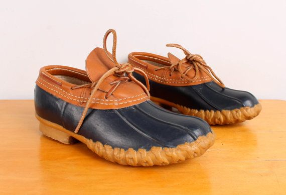70s 80s Rain Shoes Ll Bean Maine Hunting Shoe Tan Leather