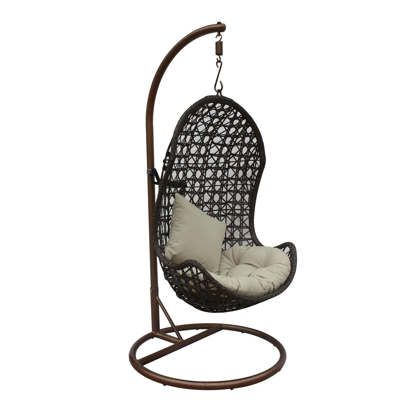 JLIP Outdoor S17761A2 Rattan Patio Hanging Chair with