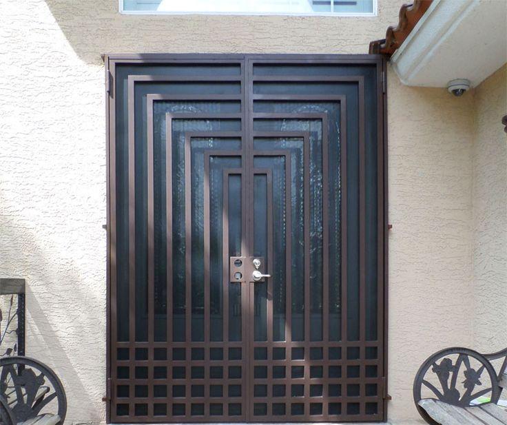 Cheap House Front Door Design Steel Security Door Iron Door In