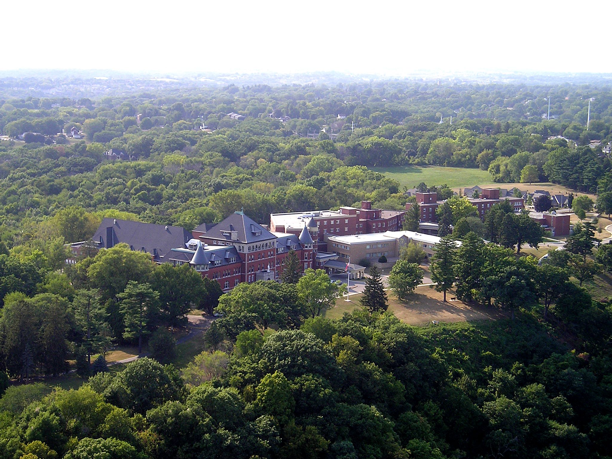 Aerial View Of Mount Carmel With Images Blessed Virgin Mary Dubuque