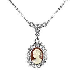 Downton Abbey Cameo Filigree Necklace