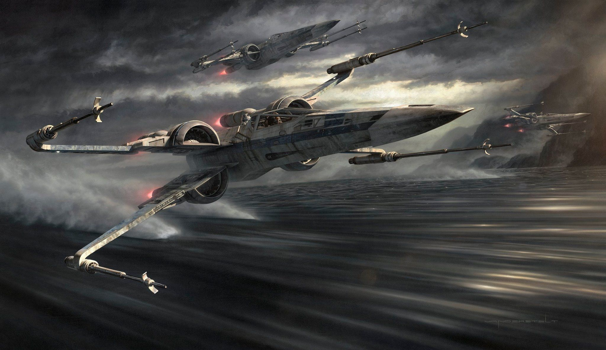 jerry vanderstelt's star wars the force awakens painting - tags