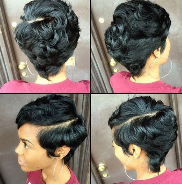 Image Result For Pixie Cut With Long Bangs Black Hair