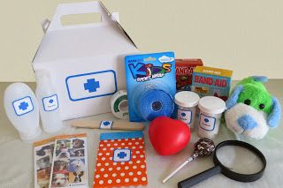 Kylie Mae S Party Ways Diy Doctor S Kit For Pretend Play Diy Doctor Imaginary Play Pretend Play