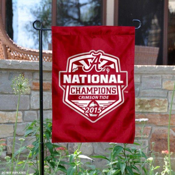 Alabama Crimson Tide National Champions Yard Flag Banner College Of Charleston Charleston Gardens