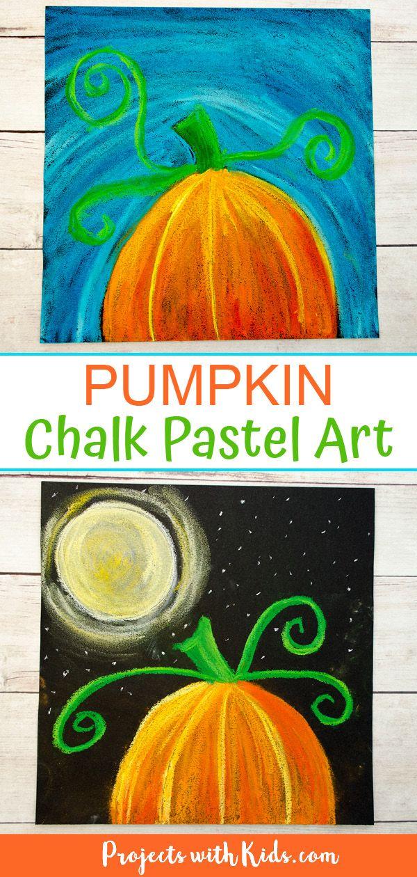 Pumpkin Chalk Pastel Art Project – 2 ways