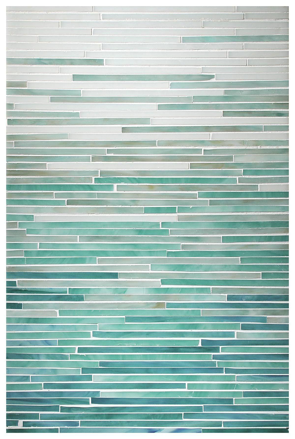Turquoise Tile opal, aqua, turquoise, peacock topaz , ombre tile, glass, katami