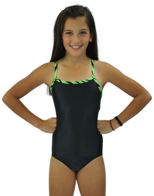 5d735640e9fb Black   Green Leotard - Kids   Tween
