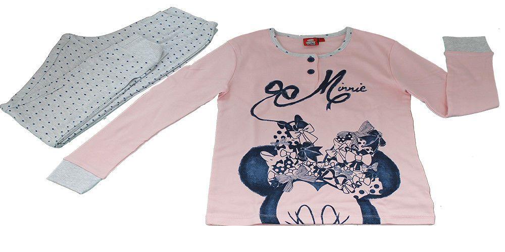 a basso prezzo 75320 4a765 Dettagli su Pigiama Bambina Disney Minnie Felpato Colore ...