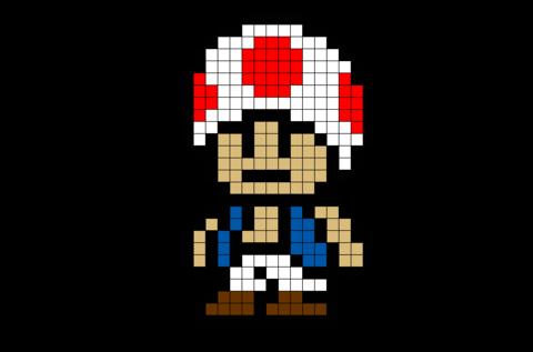 Toad Mario Pixel Art Dessin Petit Carreau Dessin Quadrille
