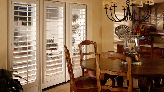 I Like This For French Doors Door Window Treatments, Window Shutters, Wood  Shutters,