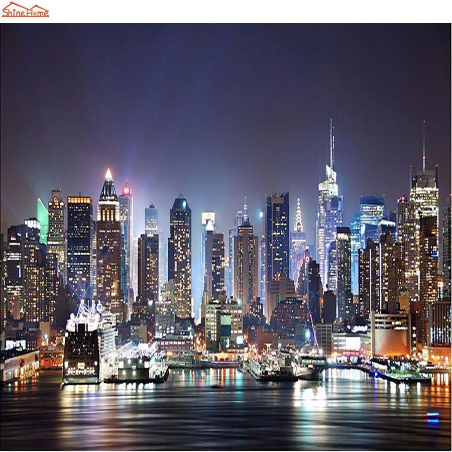 New York City Skyline Photo Wallpaper Roll Building Wall Mural 3d