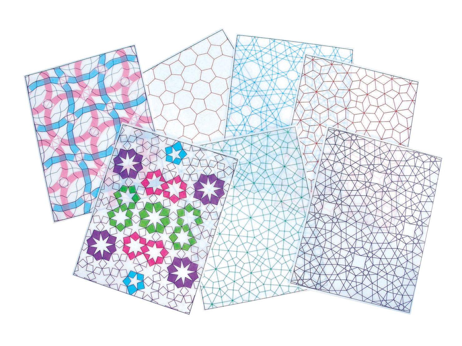 Roylco Semi Transparent Vellum Like Tessellations Glassine
