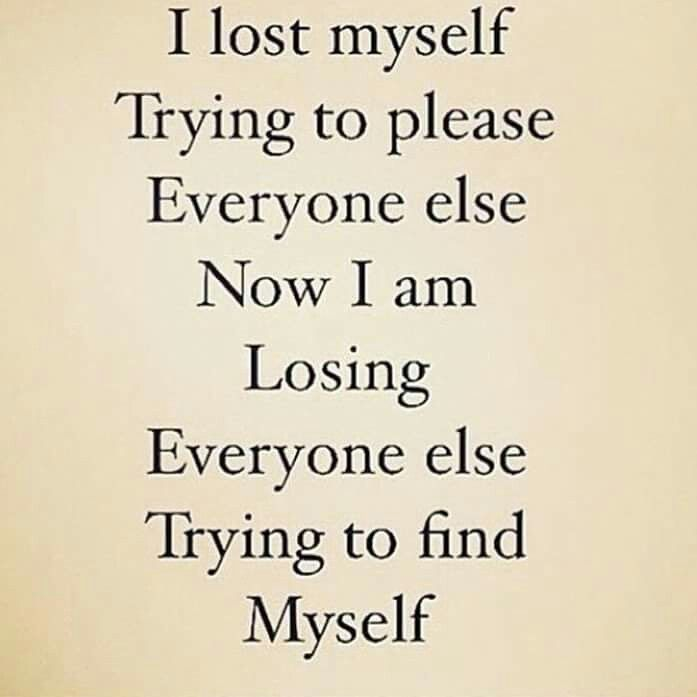 trying to focus on myself
