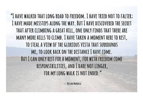 6x6 print Nelson Mandela Quote