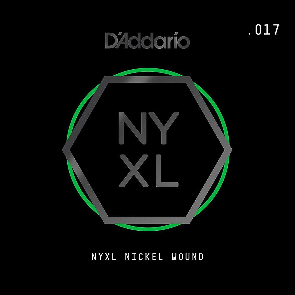 D'Addario NYNW017 NYXL Nickel Wound Electric Guitar Single String, .01