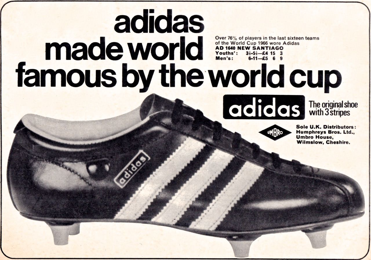 aedf0fbb1 Adidas Santiago, my first pair of proper football boots which I bought on a  school holiday to Dinard in France when I was 12 or 13.