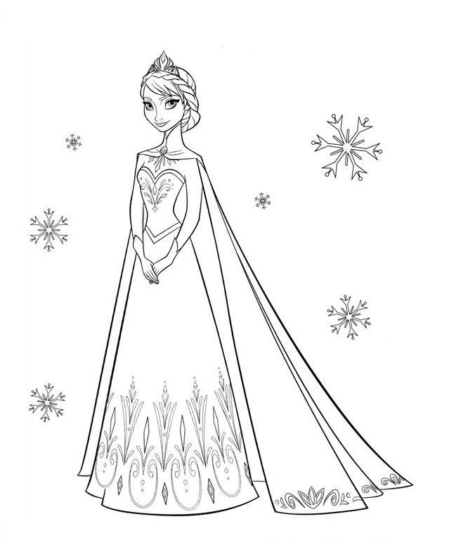 Disney Frozen Coloring Page Kleurplaat Elsa