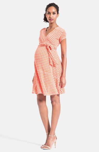 Leota Cap Sleeve Faux Wrap Maternity Dress available at #Nordstrom ...