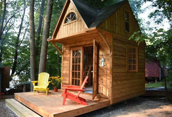 Contemporary Traditional Small Cabins Summerwood Bunkie - Backyard cabin kits