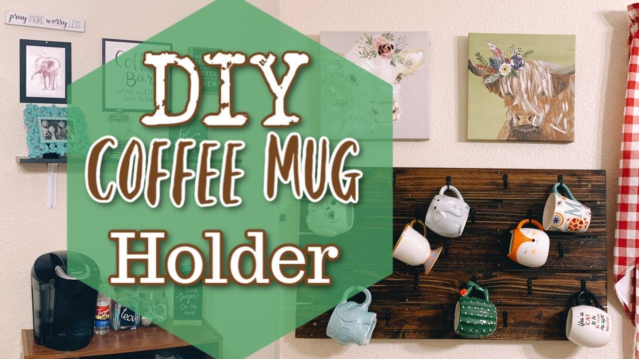 DIY Coffee Mug Rack || Make Your Own Mug Rack || Riaa Isabel