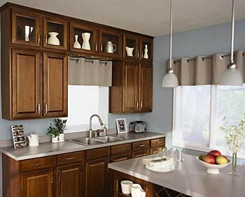 our cabinet color and style for kitchen and bathrooms - Birch Kitchen Cabinet