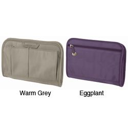 @Overstock - Travelon RFID Blocking Purse Organizer - Choose between eggplant and warm grey color options for this elegant purse organizer that features RFID blocking technology for added security. It also features external pockets that can hold items like pens, phones, and receipts for more neatness.    http://www.overstock.com/Luggage-Bags/Travelon-RFID-Blocking-Purse-Organizer/5036421/product.html?CID=214117  $20.13