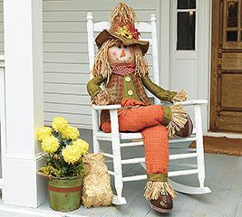 Decorative Sitting Scarecrow Fall Yard Decor Fall Halloween