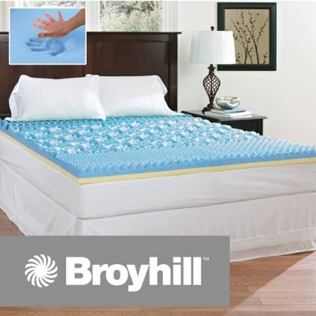 Broyhill Comfort Temp 3 Gel Memory Foam Mattress Topper Bed Mattress Memory Foam Foam Mattress Topper Mattress