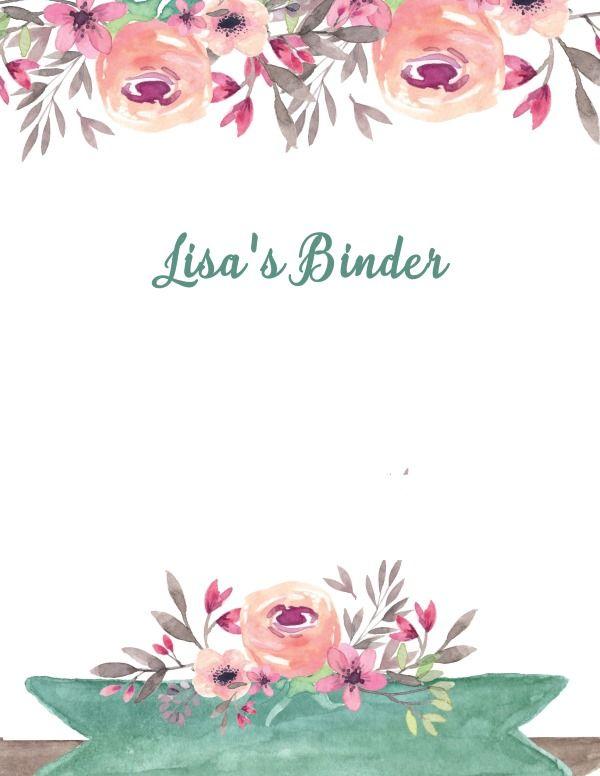 Free Printable Binder Cover Templates Customize Online Print At Home Binder Covers Free Binder Cover Templates Binder Covers Printable