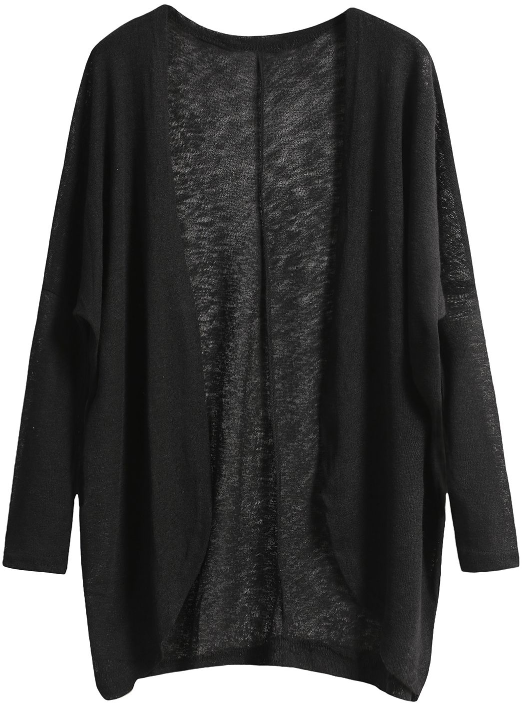 Shop Black Long Sleeve Loose Knit Cardigan online. SheIn offers Black Long  Sleeve Loose Knit Cardigan   more to fit your fashionable needs. aab26c16b