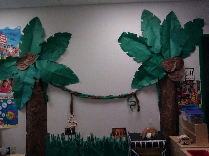 Palm trees theme jungle