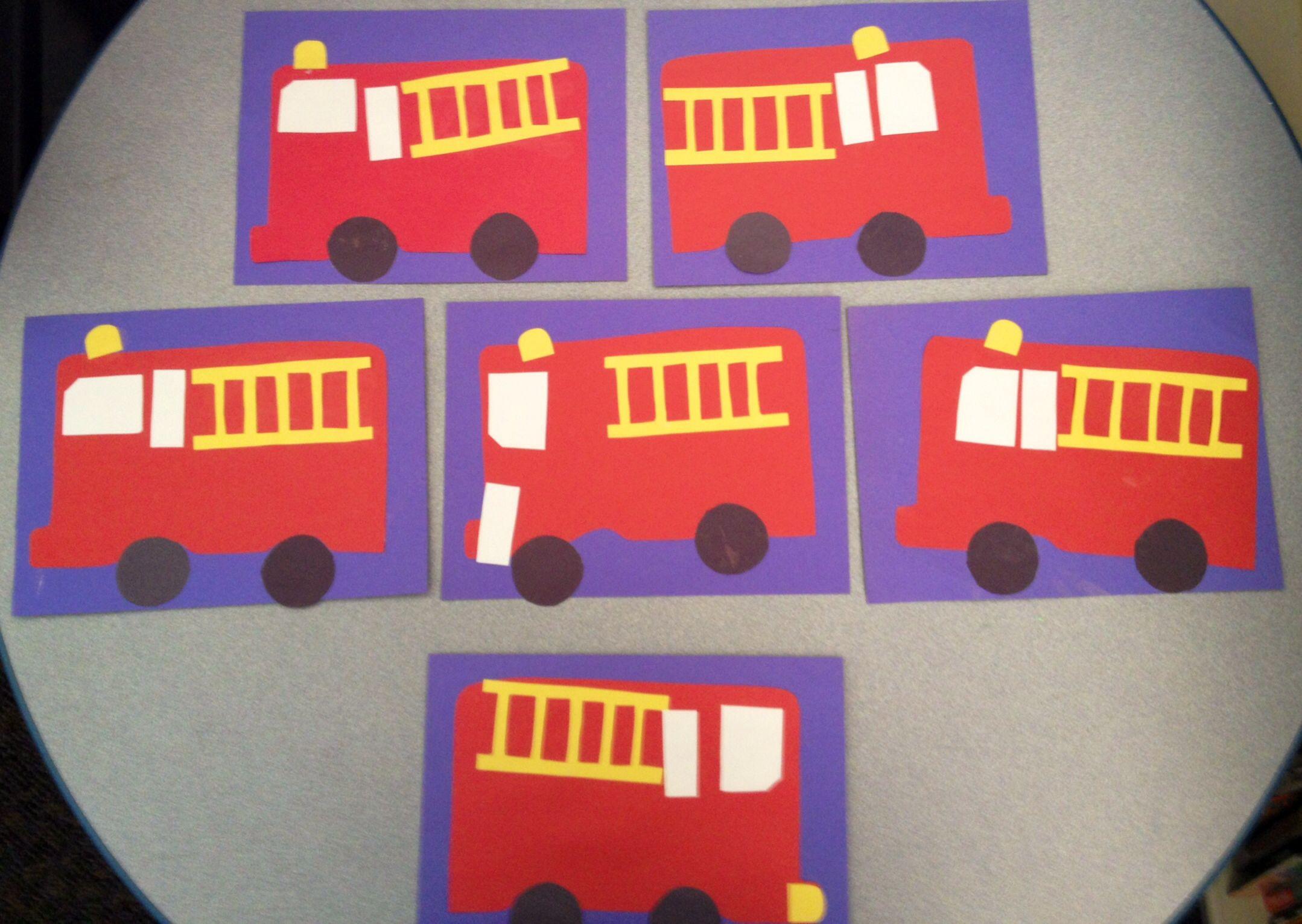 Preschool Crafts Transportation Week Fire Truck