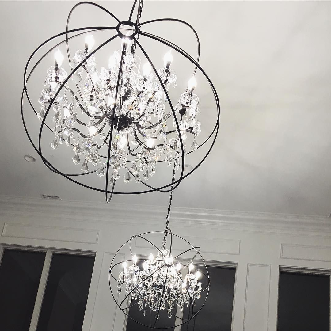 Loving My New Globe Chandeliers They Are From Elegant Lighting Were Half The Of Ones As Restoration House Is Slowllllly Coming