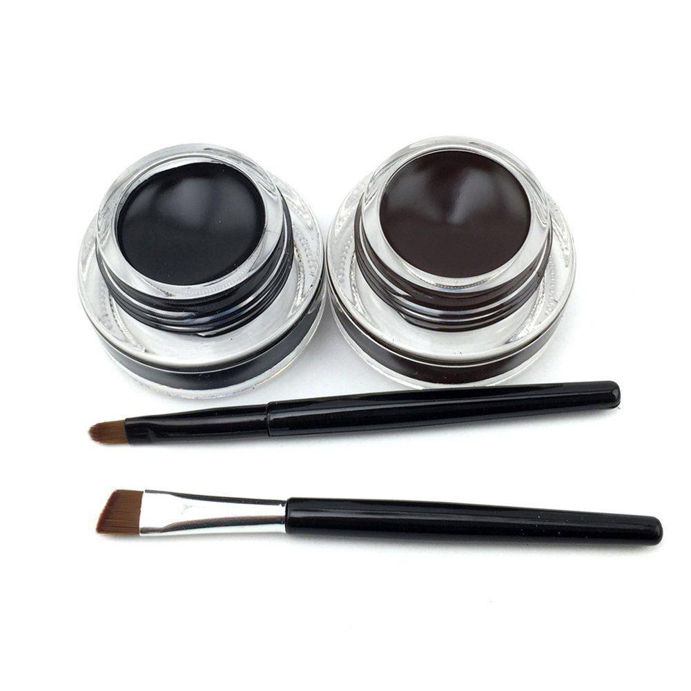 Este VONISA gel delineador de ojos negro y marrón incluyendo dos colores es una buena opción para que usted haga sus ojos significa más enticing.It delineador de ojos también puede ser utilizado como tinte cejas. No sólo es conveniente, sino también ahorrar su dinero