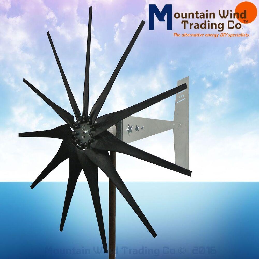 Missouri General Freedom II 12 volt 2000 watt max 9 blade wind turbine HD