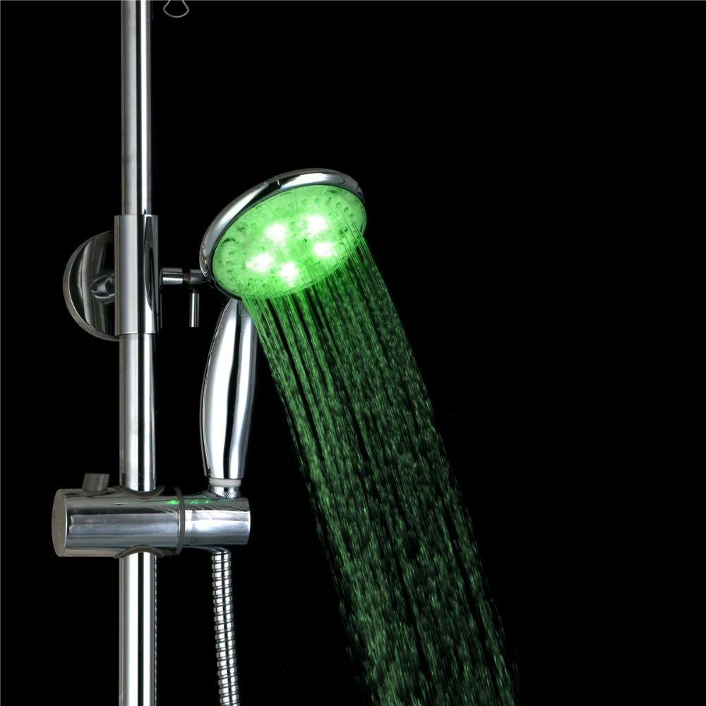 epak LED Shower Head Sprinkler Adjustable 3 Mode Ducha Rain Showers ...
