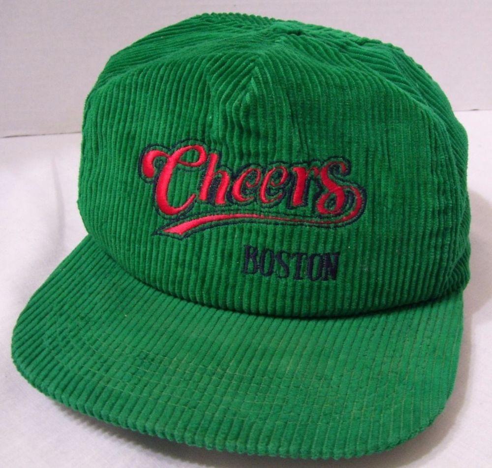 Vintage Cheers Green Corduroy Snapback Hat Cap Boston Pub Bar Tavern TV  Show USA  57d8186d5b6