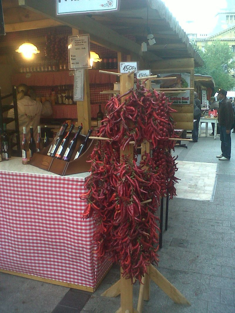 still the food market with the famous paprika from Hungary
