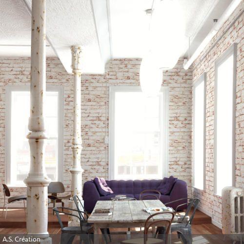 Das Wohnzimmer hat einen coolen Vintage-Look, der besonders durch - wohnzimmer beige rot