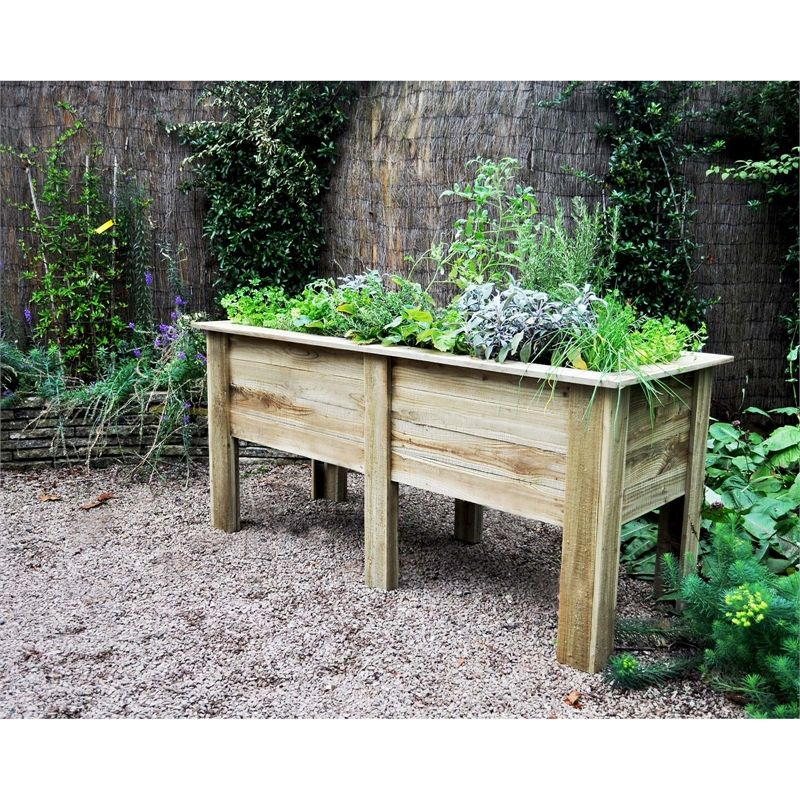 Forest Garden Wooden Deep Root Planter 18m In 2019 Garden 2019