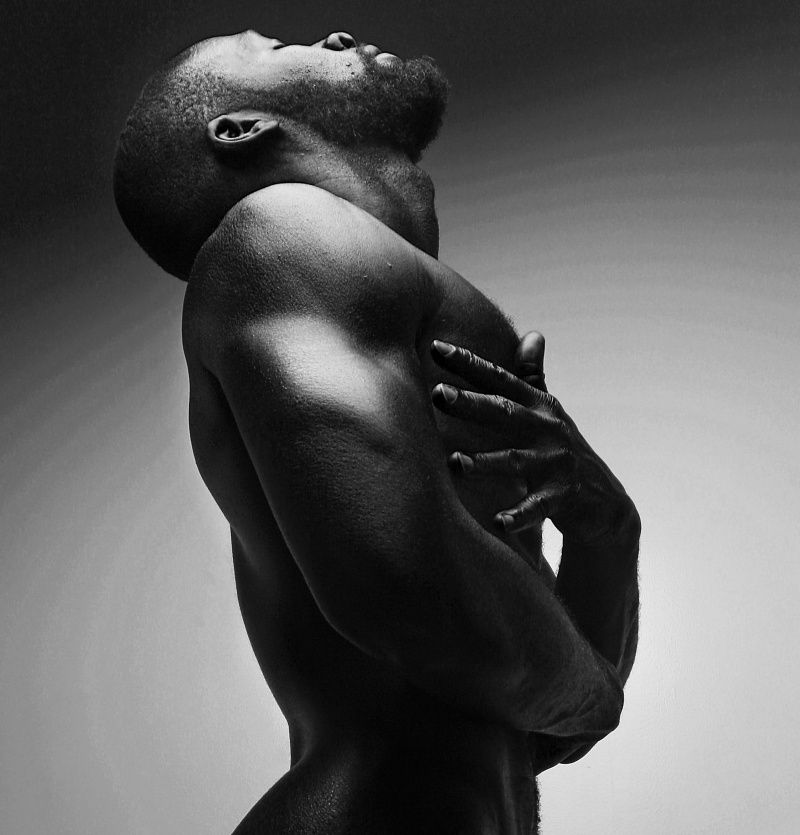 Image result for sexy black man in black and white