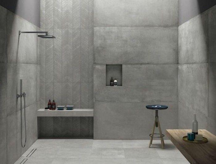 Le Carrelage Effet Béton En 55 Photos Inspirantes | Tiled Showers