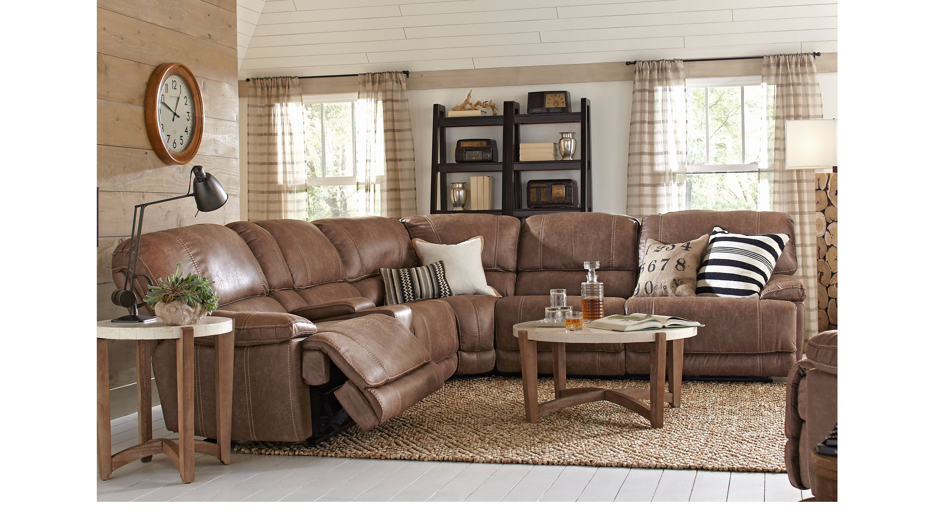 Stetson Ridge Brown 6 Pc Sectional From
