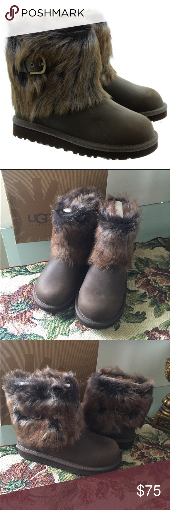 1857b491ec3 NEW UGG ELLEE LEATHER. Chocolate(big kids size 4) She is sure to ...