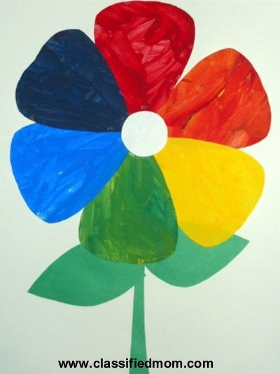 Classified Mom Kids Craft Spring Flower Color Wheel