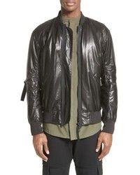 1c09d7e26f206 Helmut Lang Leather Bomber Jacket