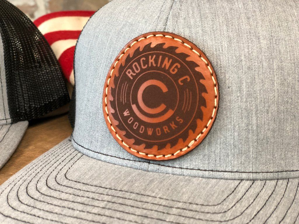 Men S Custom Leather Patch Hat Your Logo Or Design Leather Patches Custom Leather Leather Hats