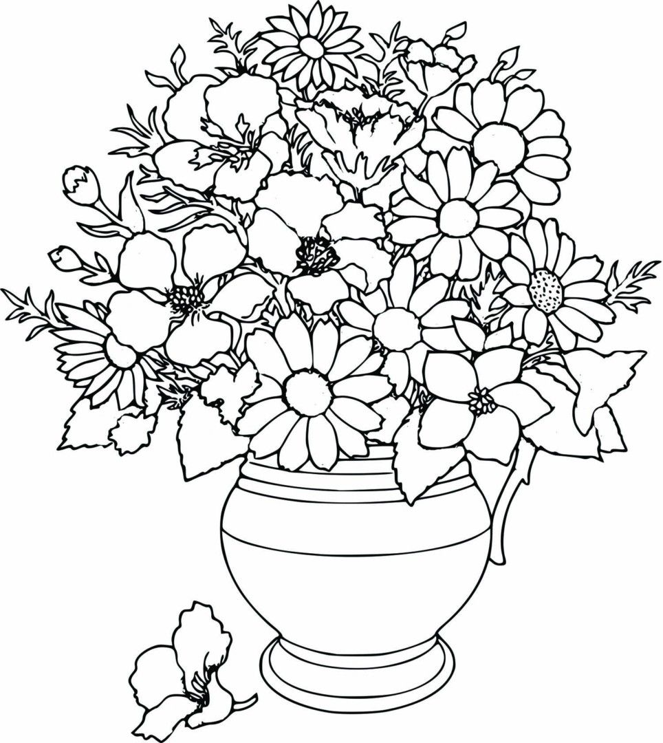 Flower Hard Coloring Pages For Girls Flower Coloring Pages Printable Flower Coloring Pages Spring Coloring Pages