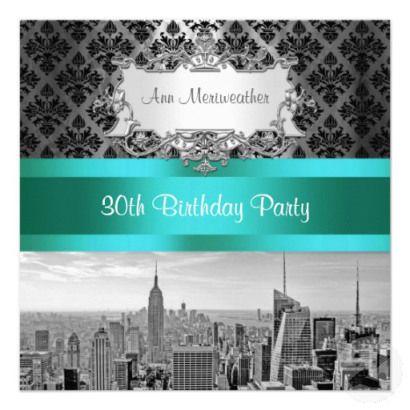 Fabulous New York Themed Ideas 30 birthday parties 30 birthday